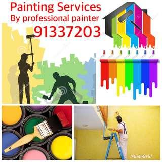 House painting Services by professional painter con us call/whatsApp 91337203