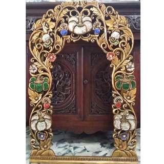 Mirror frame color gold 1 imported Thailand antique repro