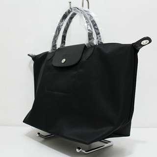 LONG CHAMP BAG (LARGE) (BLACK)
