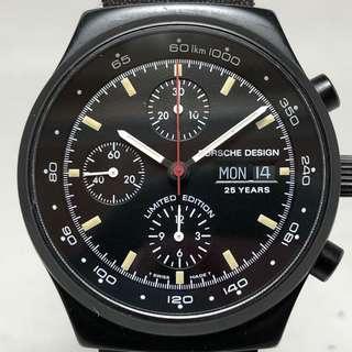 Eterna Porsche design 25週年紀念 限量1998只 40.5mm 自動計時碼表 台灣單 錶盒