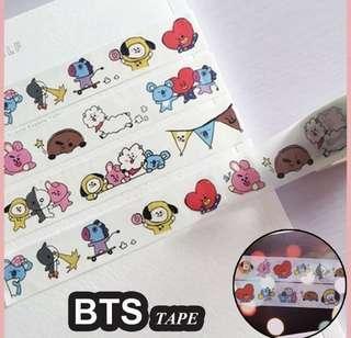 BT21 washi tapes / masking tape