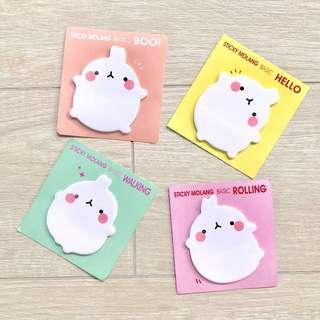Molang Sticky Note (4 Designs)