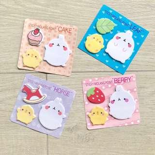 Molang Sticky Notes (4 Designs)