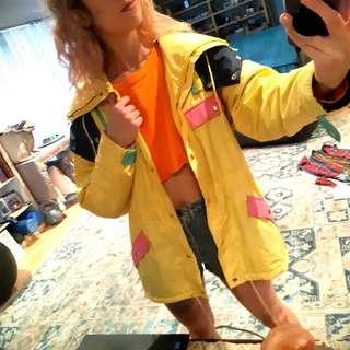 Yellow rain jacket