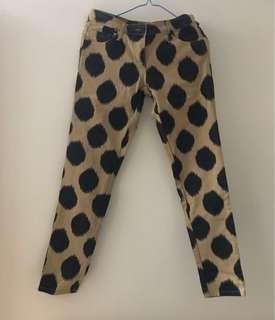 🈹💥🈹💥 型格品牌 sass & bide 啡色黑色點綴圖案型格 超舒適長褲 pants