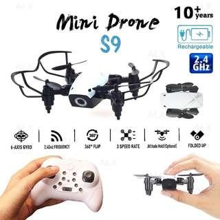 Mini Drone 6 Axis Quadcopter wt Headless Mode RC Helicopter Kids Toys S9