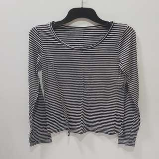 Black Grey Stripped Shirt