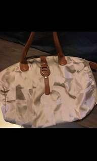 BNIB Aigner Brown Fabric Tote