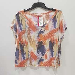 Colourful Paint Brush Printed Top