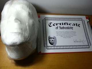 """美國荷里活特技公司 1/1阿諾舒華辛力加 真人1/1堅硬石膏頭像 """"有証書"""" 數年在ebay bid回來 收藏良好"""