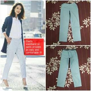 UNIQLO Satin Ankle Length Pants (Blue S)