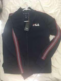 FILA x Factorie Collaboration stripe zip through jacket