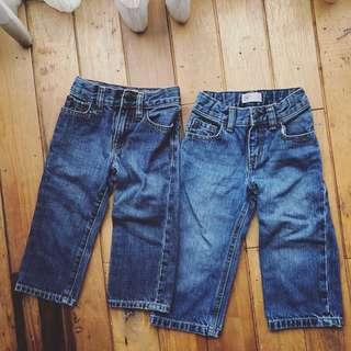 🚚 BabyGap 輕鬆款牛仔褲 original fit/ loose fit 兩件一組不拆賣(2T)