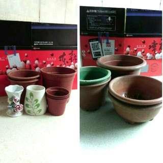 🚚 小花瓶丶盆栽皿8+5入