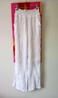 New White Beach Pants