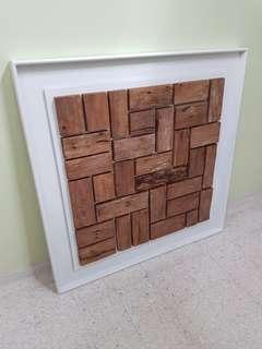 Square Teak Wood Decor #OCT10