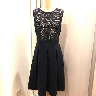 BYSI dark navy blue cut-out dress