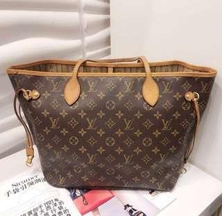 Authentic Louis Vuitton neverfull mm with certificate and organizer