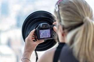 Ultimate lens hood for eliminating reflections