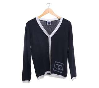 Chanel Black Cardigan size M