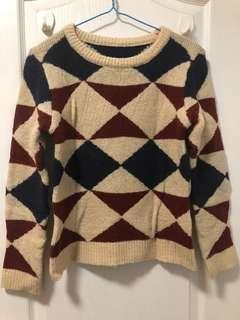 Sweater菱格紋毛衣