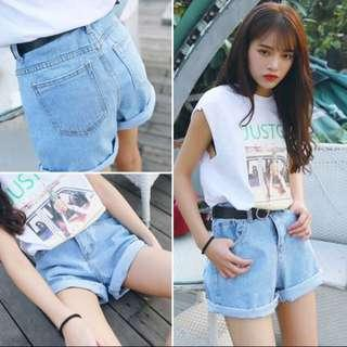 blue highwaisted shorts • hws