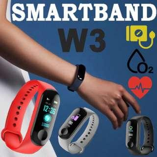 W3 Smartband for Blood Pressure/Blood Oxygen/Heart rate/Pedometer/Sleep Monitor