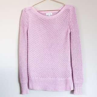 CALVIN KLEIN pink/purple metallic zip jumper XS (6-8)
