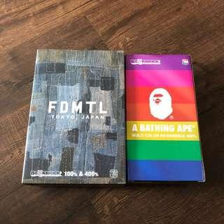 Price firm : 400 %Bearbrick FDMTL and Bape Multi 25th