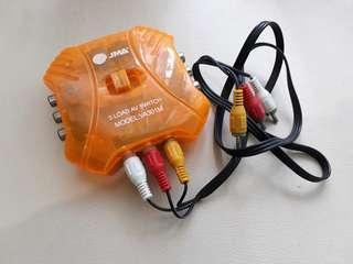 3 Load AV Switch or Selector Modrl VA301M