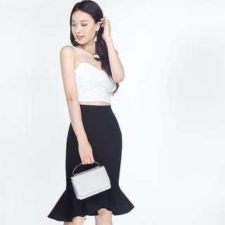 BNWT Fayth Meyena Mermaid Skirt Black S