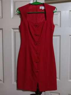 Laundry by Shelli Segal red dress