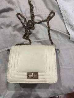 Classy white sling bag