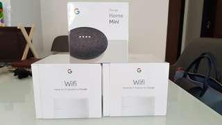 BNIB Google wifi and Home mini