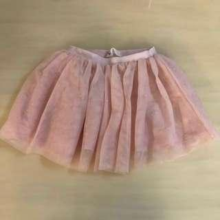💎H&M💎 Authentic Girls' Pink Peace Bling/ Glitter/ Sparkle Tulle/ Tutu Skirt (Size: EUR 92)