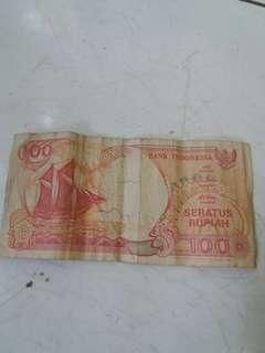 D jual 1 lmbar uang 100 rupiah
