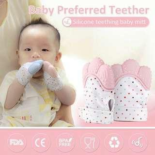 BPA FREE Baby Teething Glove Teether