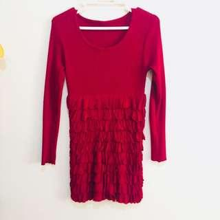 Knitted Maroon Blouse