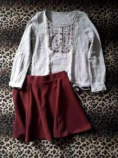 Peasant Blouse and Skirt Set
