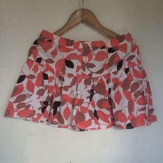 Brown, Pink Printed Skirt