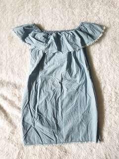 NEW Zara Off-shoulder Dress