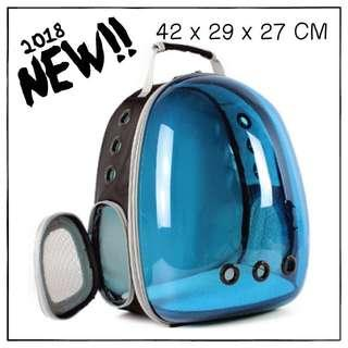 """SunShadeBlue"" Astronaut Helmet Cat Backpack Carrier"