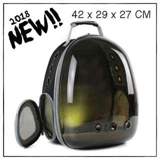 """SunShadeBlack"" Astronaut Helmet Cat Backpack Carrier"
