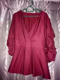 Kimono maroon Blouse