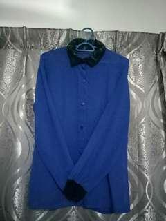 Chiffon Blue Blouse