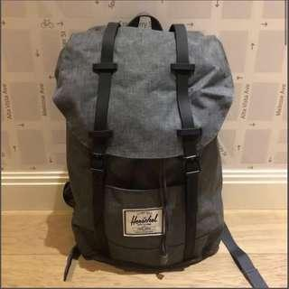 🉐35% Off! Herschel grey charco retreat Backpack bag