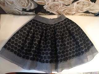 Maje Jania Black Basket Lace Skirt Size 2 Au 8/10