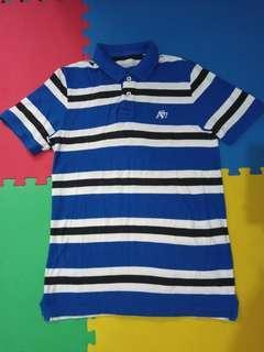 AERO Blue stripes Poloshirt