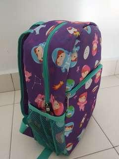 Kids school bag with space design printing