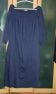 (正品)miu miu深藍色洋裝